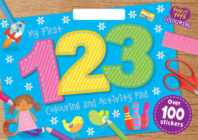 My First 123 Colouring Activity Book - Tiny Tots A3 Colouring Pad (Paperback)