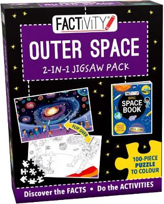 Factivity Outer Space 2-in-1 Jigsaw Pack: 100-Piece Puzzle to Colour
