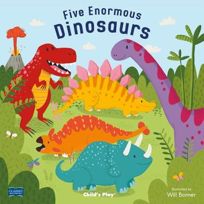 Five Enormous Dinosaurs - Classic Books with Holes 8x8 with CD (Board book)