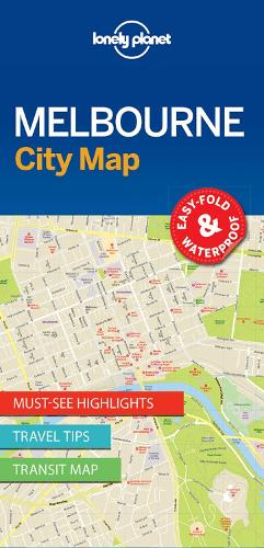 Lonely Planet Melbourne City Map - Map (Sheet map, folded)