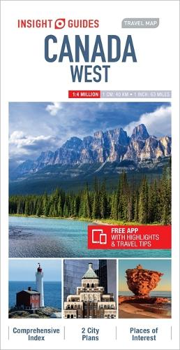 Insight Guides Travel Map Canada West - Insight Travel Maps (Sheet map)