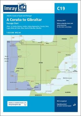 Imray Chart C19 2019: A Coruna to Gibraltar - Imray C Charts 19 (Sheet map, folded)