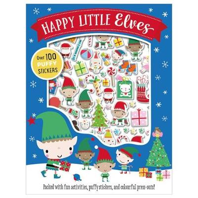 Happy Little Elves Puffy Sticker Activity (Paperback)