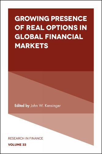 Growing Presence of Real Options in Global Financial Markets - Research in Finance 33 (Hardback)