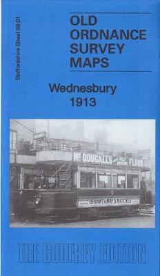 Wednesbury 1913: Staffordshire Sheet 68.01b - Old Ordnance Survey Maps of Staffordshire (Sheet map, folded)