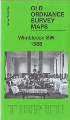 Wimbledon SW 1933: Surrey Sheet 7.14 - Old Ordnance Survey Maps of Surrey (Sheet map, folded)