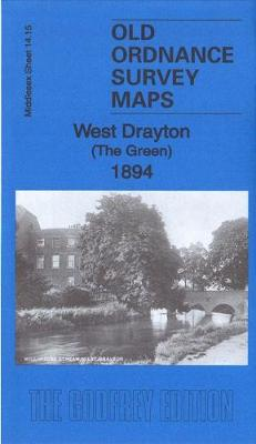 West Drayton (The Green) 1894: Middlesex Sheet 14.15 - Old Ordnance Survey Maps of Middlesex (Sheet map, folded)