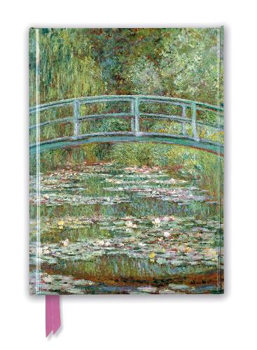 Claude Monet: Bridge over a Pond of Water Lilies (Foiled Journal) - Flame Tree Notebooks