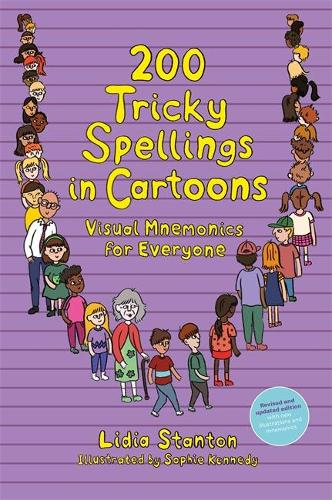 200 Tricky Spellings in Cartoons: Visual Mnemonics for Everyone - Us Edition (Paperback)