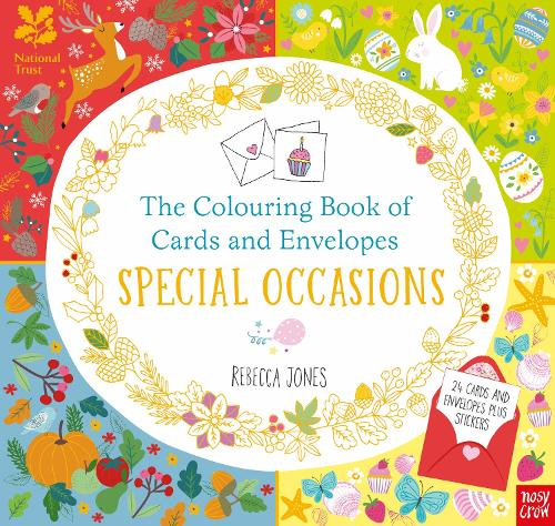 National Trust: The Colouring Book of Cards and Envelopes: Special Occasions - Colouring Books of Cards and Envelopes (Paperback)