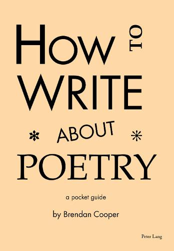 How to Write About Poetry: A Pocket Guide (Paperback)