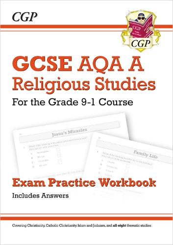 New Grade 9-1 GCSE Religious Studies: AQA A Exam Practice Workbook (includes Answers) (Paperback)
