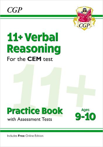 11+ CEM Verbal Reasoning Practice Book & Assessment Tests - Ages 9-10 (with Online Edition) (Paperback)