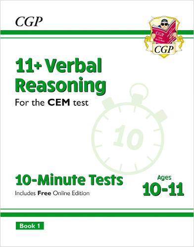 11+ CEM 10-Minute Tests: Verbal Reasoning - Ages 10-11 Book 1 (with Online Edition) (Paperback)