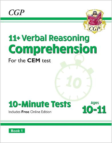 11+ CEM 10-Minute Tests: Comprehension - Ages 10-11 Book 1 (with Online Edition) (Paperback)