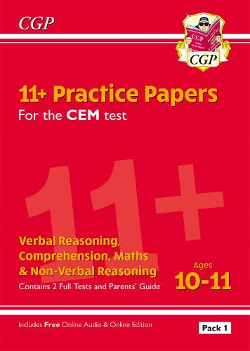 11+ CEM Practice Papers: Ages 10-11 - Pack 1 (with Parents' Guide & Online Edition) (Paperback)