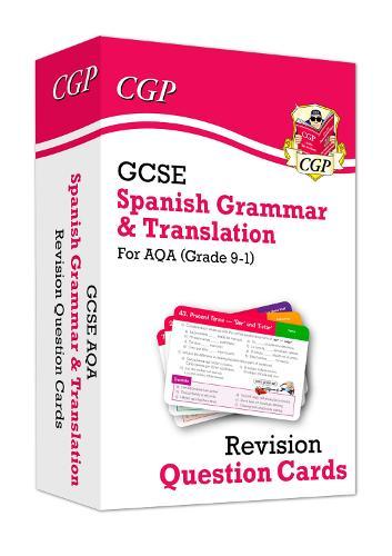New Grade 9-1 GCSE AQA Spanish: Grammar & Translation Revision Question Cards