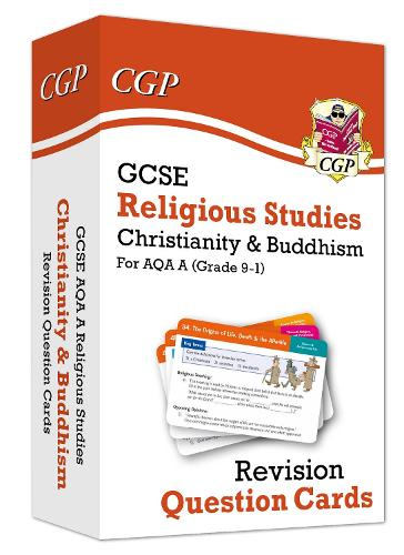 New 9-1 GCSE AQA A Religious Studies: Christianity & Buddhism Revision Question Cards