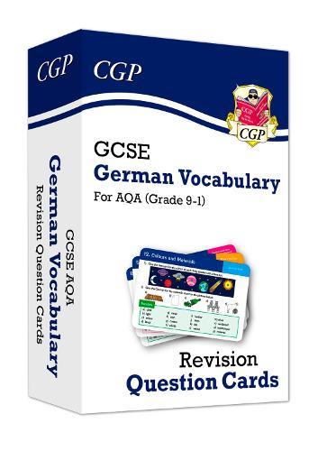 New Grade 9-1 GCSE AQA German: Vocabulary Revision Question Cards
