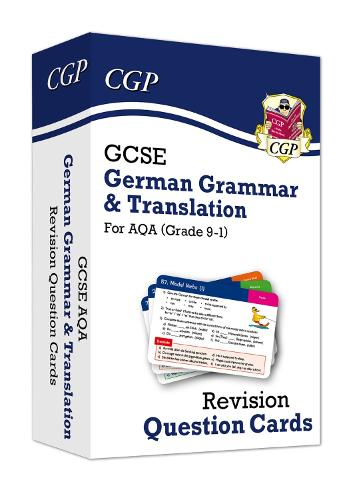 New Grade 9-1 GCSE AQA German: Grammar & Translation Revision Question Cards