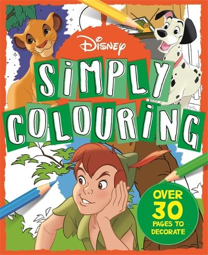 Disney: Simply Colouring (Paperback)