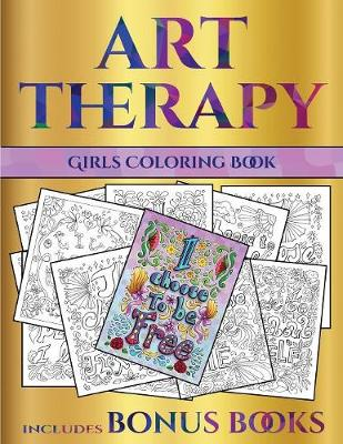 Girls Coloring Book Art Therapy By James Manning Coloring Pages Waterstones