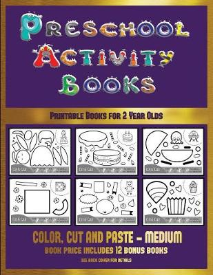 Printable Books for 2 Year Olds (Preschool Activity Books - Medium): 40 Black and White Kindergarten Activity Sheets Designed to Develop Visuo-Perceptual Skills in Preschool Children. - Printable Books for 2 Year Olds 16 (Paperback)