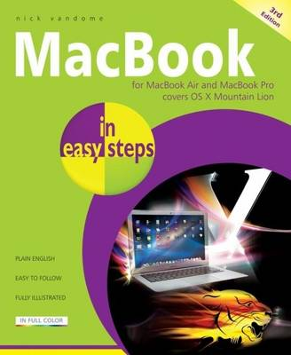 Macbook for Macbook Air and Macbook Pro Covers OS X Mountain Lion in Easy Steps - In Easy Steps (Paperback)