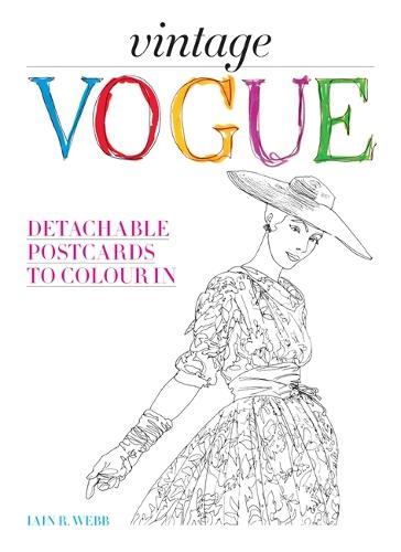 Vintage Vogue: Detachable postcards to colour in (Hardback)