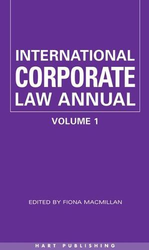 International Corporate Law: v. 1 (Hardback)
