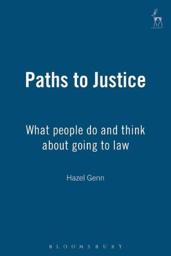 Paths to Justice: What People Do and Think About Going to Law (Paperback)