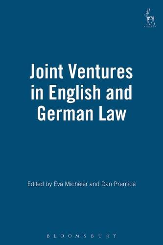 Joint Ventures in English and German Law (Hardback)