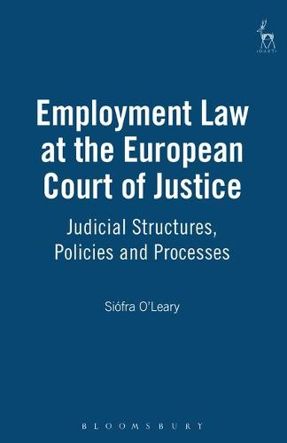 Employment Law at the European Court of Justice: Judicial Structures, Policies and Processes (Hardback)