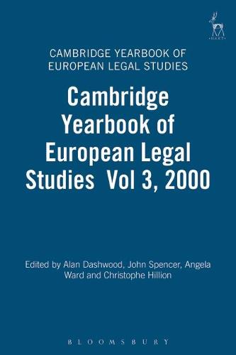 Cambridge Yearbook of European Legal Studies: Vol. 3 - Cambridge Yearbook of European Legal Studies 3 (Hardback)