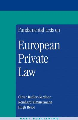 Fundamental Texts on European Private Law (Paperback)