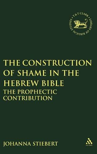 The Construction of Shame in the Hebrew Bible: The Prophetic Contribution - Journal for the Study of the Old Testament Supplement S. No.346 (Hardback)