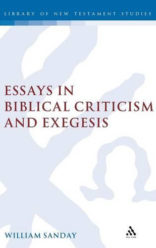Essays in Biblical Criticism and Exegesis - Journal for the Study of the New Testament Supplement S. No. 225 (Hardback)