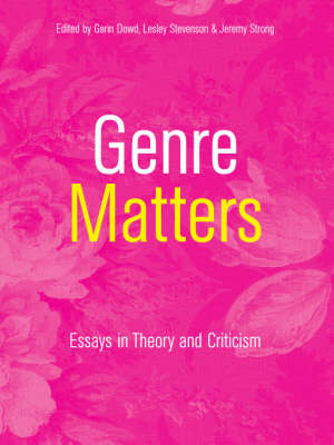 Genre Matters: Essays in Theory and Criticism (Paperback)