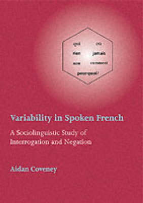 Variability in Spoken French Pb (Paperback)