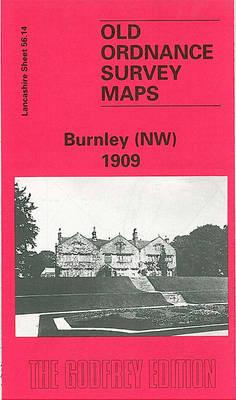 Burnley (NW) 1909: Lancashire Sheet 56.14 - Old O.S. Maps of Lancashire (Sheet map, folded)