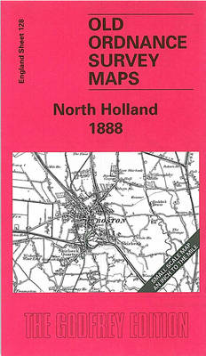 North Holland 1888: One Inch Sheet 128 - Old Ordnance Survey Maps - Inch to the Mile (Sheet map, folded)