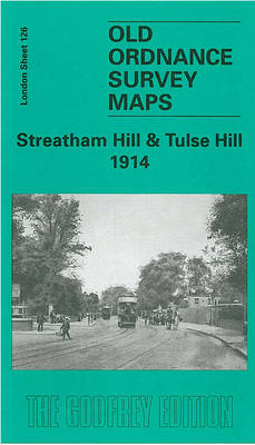Streatham Hill and Tulse Hill 1914: London Sheet 126.3 - Old O.S. Maps of London (Sheet map, folded)