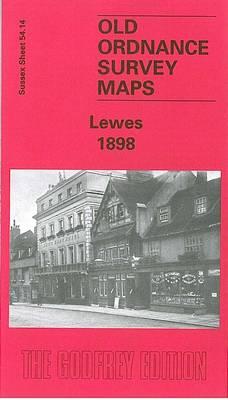 Lewes 1898: Sussex Sheet 54.14 - Old Ordnance Survey Maps of Sussex (Sheet map, folded)
