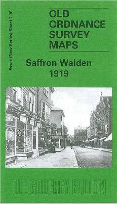 Saffron Walden 1919: Essex Sheet 7.05 - Old O.S. Maps of Essex (Sheet map, folded)