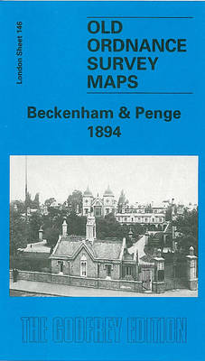 Beckenham and Penge 1894: London Sheet 146 - Old O.S. Maps of London (Sheet map, folded)