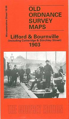 Lifford & Bournville 1903: Worcestershire Sheet 10.08 - Old Ordnance Survey Maps of Worcestershire (Sheet map, folded)