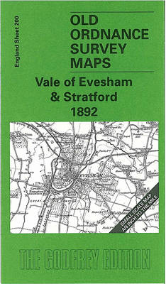 Vale of Evesham and Stratford 1892: One Inch Map 200 - Old Ordnance Survey Maps of England & Wales (Sheet map, folded)