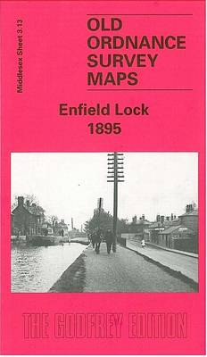 Enfield Lock 1895: Middlesex Sheet  03.13 - Old O.S. Maps of Middlesex (Sheet map, folded)