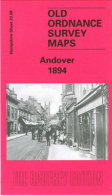 Andover 1894: Hampshire Sheet 23.08 - Old Ordnance Survey Maps of Hampshire (Sheet map, folded)