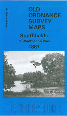 Southfields and Wimbledon Park 1867: London Sheet 123.1 - Old O.S. Maps of England (Sheet map, folded)